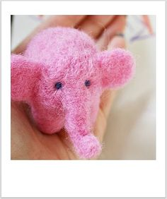 Needle Felting pics of Elephant and Duck, for inspiration