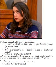 """April Ludgate's House Rules, """"Parks and Recreation"""""""
