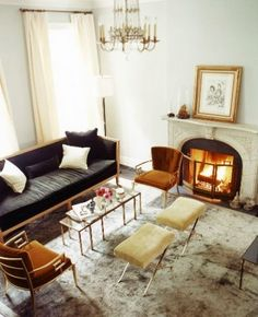 Nate Berkus Katie Lee Joel's Home blue orange yellow eclectic chic living room design. Silver Living Room, My Living Room, Home And Living, Living Room Decor, Living Spaces, Living Area, Small Living, Modern Living, Nate Berkus
