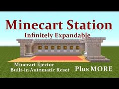 Minecraft Tutorial : Minecart Station, Infinitely Expandable, Auto Reset Plus MORE... - YouTube