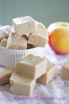 Apple Pie Fudge -I know there's no actual apple pieces in this recipe, but there is applesauce!