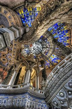 Ceiling of the Erawan Museum in Samut Prakan province, Thailand.
