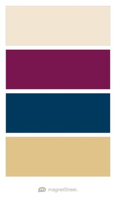 Champagne, Sangria, Navy, and Gold Wedding Color Palette - custom color palette created at MagnetStreet.com