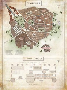 Commission : city map of Simiones by Tiphs.deviantart.com on @DeviantArt