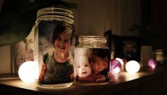 Bursdagsinspirasjon - Lyslykt med bilde.   Idebank for småbarnsforeldreIdebank for småbarnsforeldre