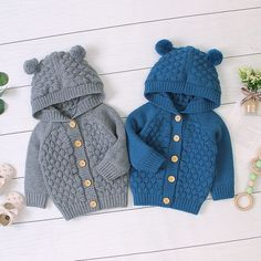 Baby Boy / Girl Adorable Pompon Deer Solid Knitted Coat (No Shoes) Only $18.99 Mobile Baby Cardigan, Baby Pullover, Knit Cardigan, Baby Outfits, Toddler Outfits, Baby Clothes Blanket, Knitted Baby Clothes, Trendy Baby Boy Clothes, Baby & Toddler Clothing