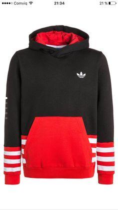 adidas originals Print Scarf Crew Röd, Dressinn Huvtröjor