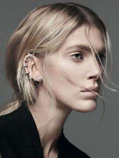 """Piercing d'oreille : 20 idées - Le """"all over"""""""