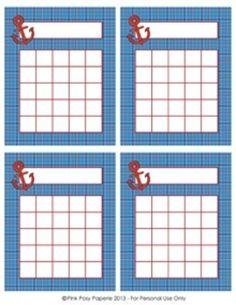 Nautical Classroom Reward Incentive Charts - 4 Different Designs