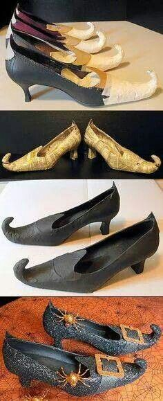 Great witchy shoes. Gotta do this.
