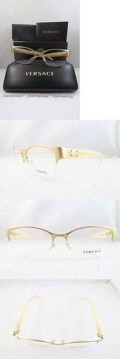 effe0a43a67f Eyeglass Frames  Versace Mod 1222 1196 Semi-Rimless Gold New Authentic  Eyeglasses 53Mm W