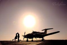 Engagement Photography Meg Singleton Photography Airplane