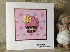 Randis hobbyverden: Bursdagskort med muffins/cupcake
