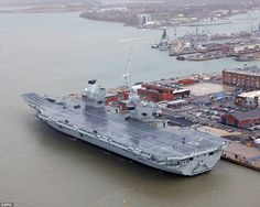 The UK's biggest and most-advanced aircraft carrier, HMS Queen Elizabeth, was commissioned into the Royal Navy on Thursday by Her Majesty the Queen during a ceremony at the Portsmouth Naval B… Luftwaffe, Hms Queen Elizabeth, Queen Elizabeth Carrier, Hms Prince Of Wales, Portsmouth England, Navy Carriers, New Aircraft, Her Majesty The Queen, Flight Deck