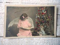 Antique angel postcard  Little girl wings by LizKnijnenburg