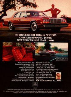 1979 Chrysler Newport Automobile Original Vintage Print Ad Old Chrysler Ads 70s
