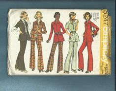 1972  Simplicity  5247 Retro Safari Chic Jacket & by MrsWooster