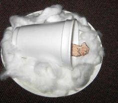 Preschool Storytime Crafts: Hibernating Bear  cover cup in ripped up brown paper though