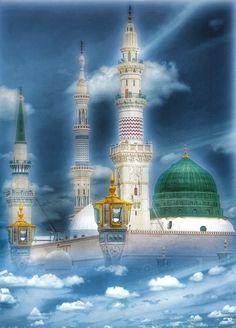 Islamic Images, Islamic Pictures, Medina Saudi Arabia, Masjid Haram, Prophets In Islam, Jumma Mubarik, Medina Mosque, History Of Islam, Allah Calligraphy