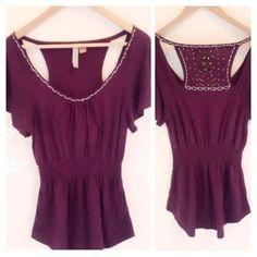 "Selling this ""Pretty maroon beaded tunic"" in my Poshmark closet! My username is: dollface86. #shopmycloset #poshmark #fashion #shopping #style #forsale #eyeshadow  #Tops"