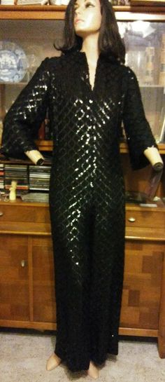 Lucie Ann Beverly Hills 1960s Rare Special Occasion Mod Jumper Flare Leg Stretch   Clothing, Shoes & Accessories, Vintage, Women's Vintage Clothing   eBay! #rare #lucieann #beverlyhills #1960s #sequin #jumpsuit #stretch #flare #legs and #sleeves #hidden #zipper up center back  #mint #condition For the serious #collector #1stdibs and other #dealers #welcome From the #designer of #peignoirs for #Greenacres #Bewitched  #serious #inquiries only