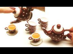 Miniature teapot. Tutorial. Polymer clay. Миниатюрный чайник. Полимерная глина. Мастер-класс - YouTube
