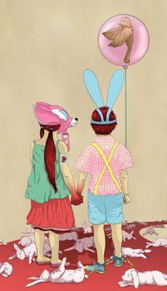 'The Terrible Children' - amazing illustration work by @Devin Hunt McGrath on @Society6. Mini-print: $28.08