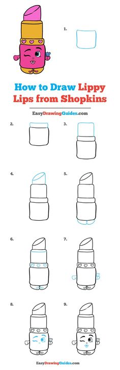 Learn How to Draw Lippy Lips: Easy Step-by-Step Drawing Tutorial for Kids and Beginners. #LippyLips #Shopkins #DrawingTutorial #EasyDrawing See the full tutorial at https://easydrawingguides.com/how-to-draw-lippy-lips-from-shopkins/.