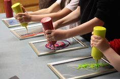 Making window art with glue and food coloring. Check this out because the results are BEAUTIFUL!!!