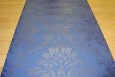 blauw barok vlies glim glans behang 286