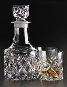orrefors sofiero decanter & 2 glasses