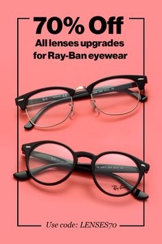 All Ray-Ban Eyewear Lenses Upgrades 70% Off + Free Shipping. Shop Now!