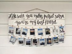 Photo Gifts - Shooting Great Photos Is Simply A Few Tips Away Diy Gift For Bff, Diy Gifts, Hanging Photos, Photo Hanging, Cute Diy Room Decor, Photo Wall Decor, Love Quotes Photos, Christmas Gifts For Friends, Photo On Wood