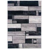 Found it at Wayfair - Adana Charcoal/Grey Oblong Blocks Rug