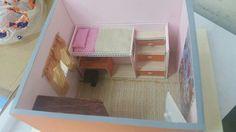 Maqueta mueble multifunciones, habitacion de niña