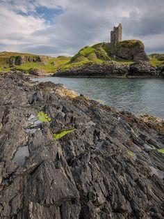 ❈Gylen Castle on the Isle of Kerrera, Scotland.