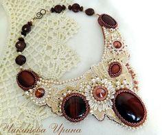 le mariage de la dentelle et des perles ... superbe !