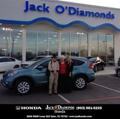 WE HAD A VERY PLEASANT EXPERIENCE PURCHASING OUR NEW HONDA CR V. OUR SALES PERSON, COURTNEY SINGLETON, WAS VERY HELPFUL, AS WAS EVERYONE THAT WE MET AT JACK O' DIAMONDS. - George & Jane Winn, Thursday, January 29, 2015 http://www.jodhonda.com/?utm_source=Flickr&utm_medium=DMaxxPhoto&utm_campaign=DeliveryMaxx