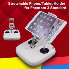 Remote Controller Stretchable Smartphone Tablet Holder Bracket Extended Clamp for DJI Phantom 3 Standard