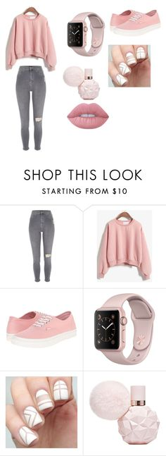 """Untitled #96"" by myavargas ❤ liked on Polyvore featuring River Island, Vans and Lime Crime"