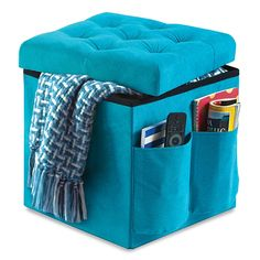 Foldable Storage Ottoman--purchased from Unique Thrift Store for $5.95 ( retail is $19.99 @ Bed, Bath & Beyond)