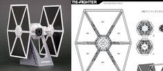 TIE Fighter Papercraft Template
