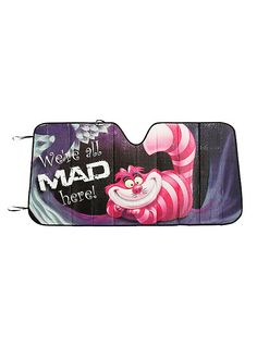 Disney Alice In Wonderland Cheshire Cat All Mad Here Accordion Sunshade,