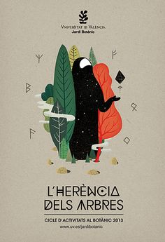 Graphic Design and Illustration. Graphic design and illustration by Casmic Lab for the Botanic Garden of València The work included the creation of Illustration Ligne, Graphic Design Illustration, Digital Illustration, Illustration Example, Valencia, Design Poster, Design Art, Poster Designs, Behance