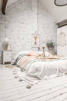 Scandinavian Bed On Floor
