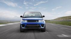 Blue land rover range rover sport 2015