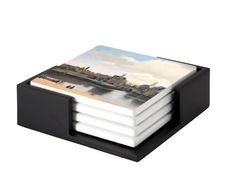 The ceramic coasters are 10 x 10 cm with rounded corners and a cork backing. All our tiles are handmade in-house. The tiles are decorative tiles, a perfect addition to your interior. The set of 4 coasters is complete with a black wooden table holder. Decorative Tile, Decorative Boxes, Johannes Vermeer, Dutch Golden Age, Ceramic Coasters, Old Master, Rembrandt, Delft, Art Reproductions