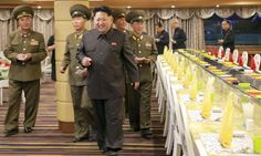 Kim Jong-un inspects a newly built boat