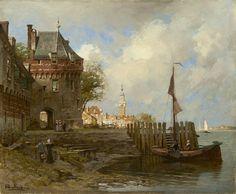 Johannes Christiaan Karel Klinkenberg (Den Haag 1852-1924) De rede van Veere met de Campveerse toren en de stadhuistoren - Kunsthandel Simonis en Buunk, Ede (Nederland).