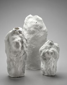 "Velčovský produced the Snow Vases by moulding snow into vase forms and then casting them in plaster - a technique he describes as ""lost-snow..."